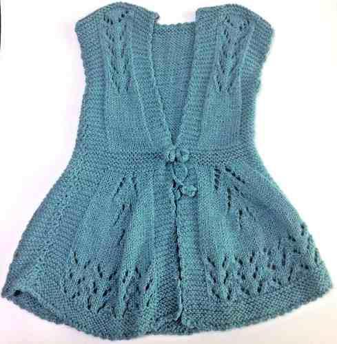 Vestido Para Bebita Alpaca Bebe-100% Hecho A Mano