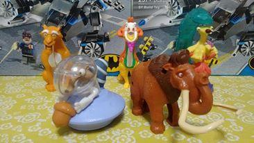 Colección Mc Donalds de La Era de Hielo: Manny, Sid, Diego,