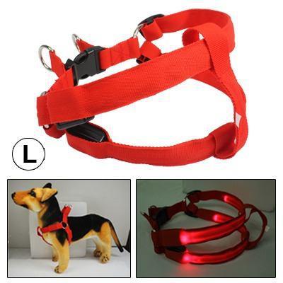 Fashionable Led Dog Shining Nylon Collar Para Pet Size