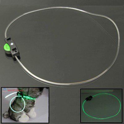 Optical Fiber 3-mode Luminous Pet Decoration Necklace Strap