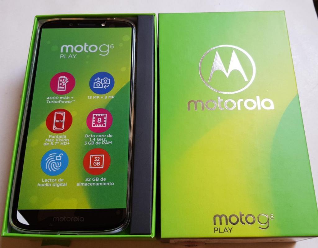 Moto G6 Play Nuevo en Caja sin Uso