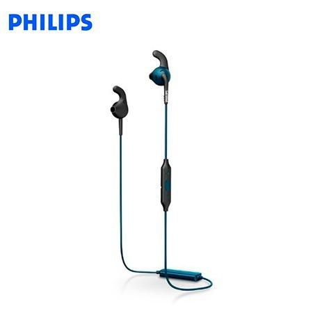 Audifono C/microf. Philips Sports Bluetooth Shq6500bl/00 Blu