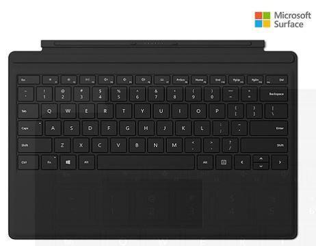 Microsoft Surface Pro 3 & 4, 5, 6,type Cover Black -teclado