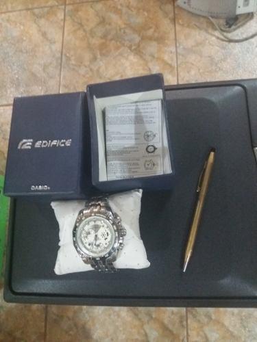 Reloj Casio Modelo Edifice+lapicero Cross Bañado En Oro