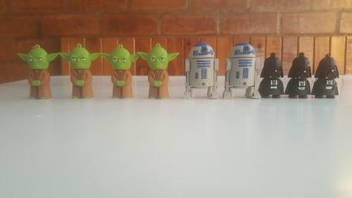 Usb's De Star Wars De 16gb. Yoda, Darth Vader Y R2d2