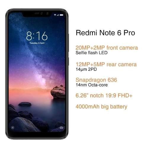 Xiaomi Note 6 Pro Version Global