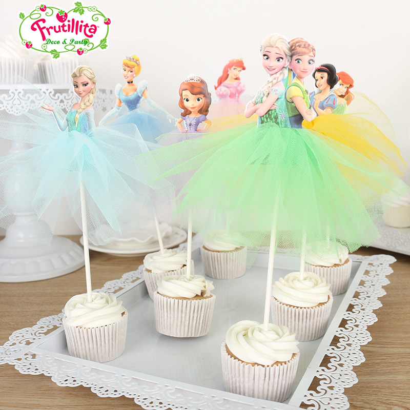 Cupcake Toppers Cumpleaños Hecho a Mano