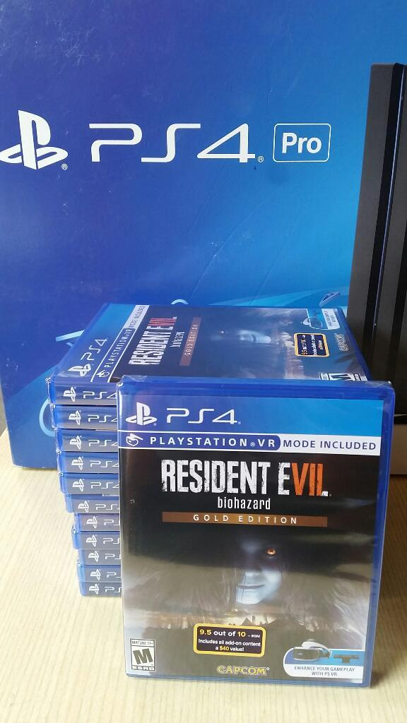 Resident Evil 7 Gold Edition Ps4 Nuevo y Sellado stock