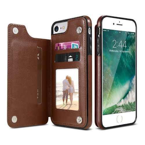 Funda Case Tarjetero De Cuero Iphone 7 8 - Tienda