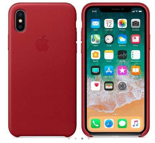 Funda De Cuero Original Para Iphone Xs Max (product Red)