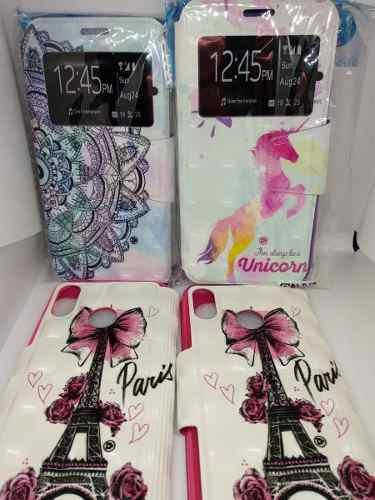 Funda Flip Cover Huawei P20 Lite Diseños Colores