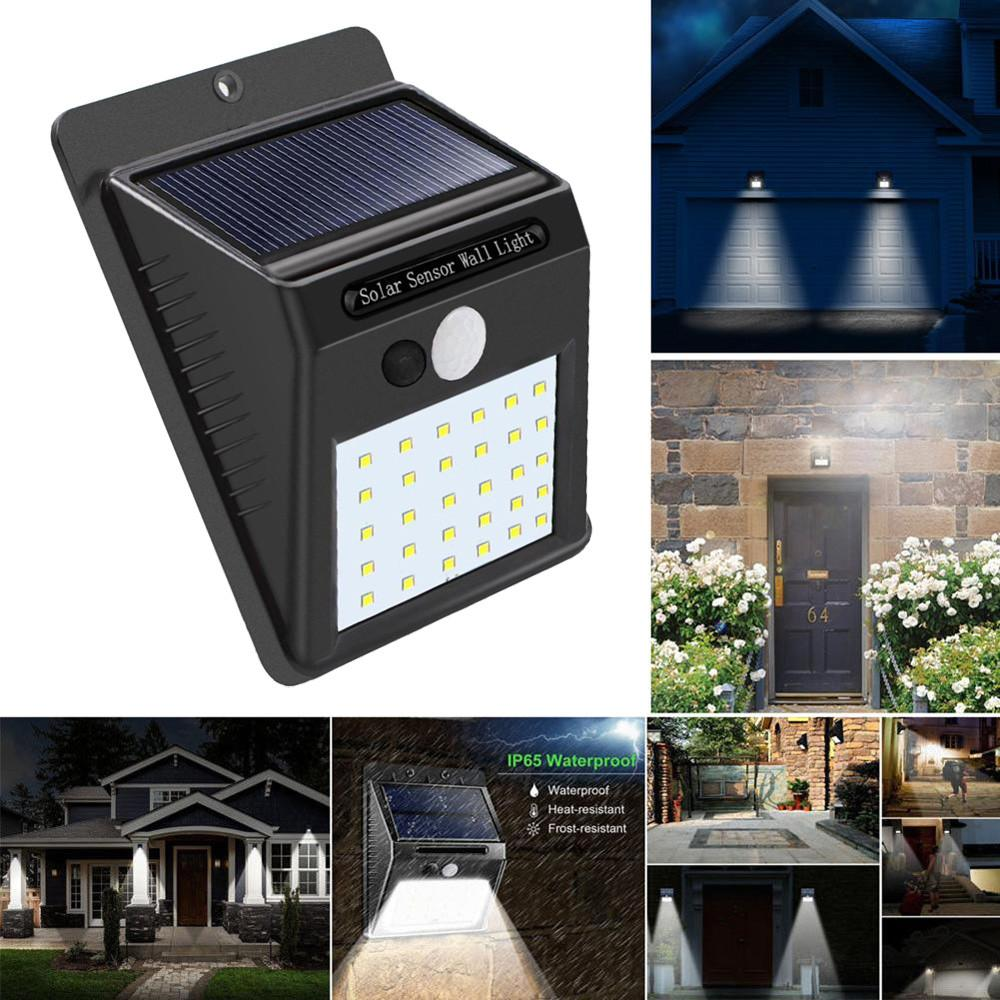 Lámpara a Energía Solar de 30 Led Sensor