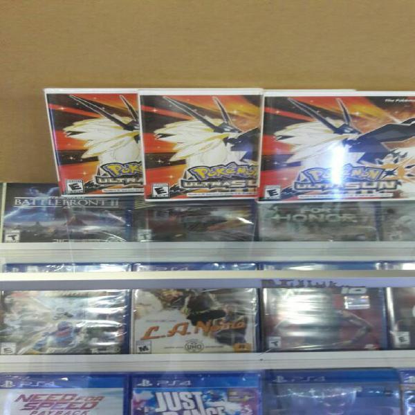 Pokémon Ultra Sun Nintendo 3ds Nuevo y Sellado stock