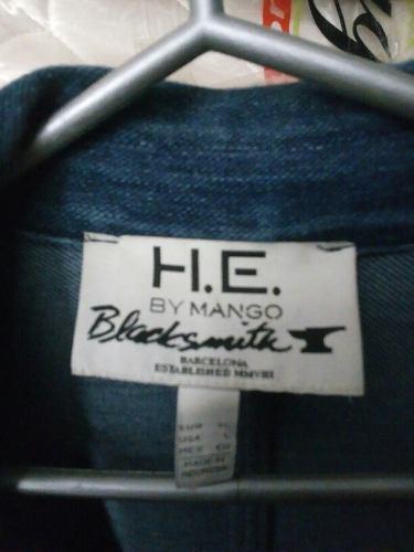 Blazer Tipo Jean Marca H.e. By Mango Talla L