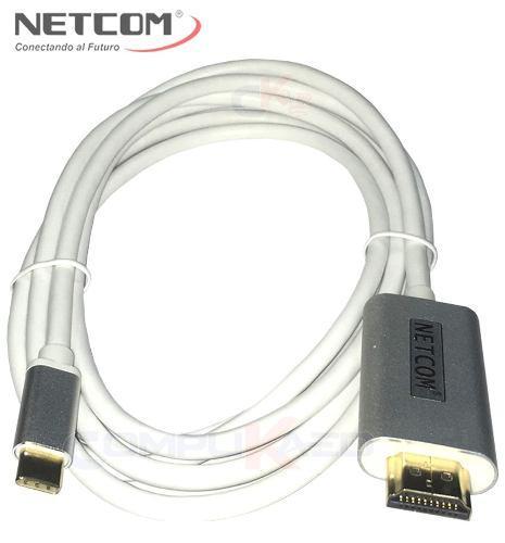 Cable De Usb 3.1 Tipo C A Hdmi Ultra Hd 4k De 1.80 Mt Netcom
