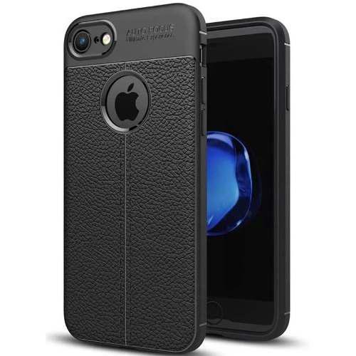 Case Protector Para Iphone 6/7/8/x/plus/ De Goma Tipo Cuero