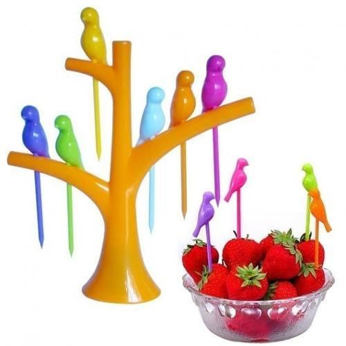 Mondadientes Para Frutas Tipo Pajarito Eventos Adorno Fiesta