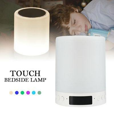Parlante Lampara Despertador Led Bluetooth Colores Touch