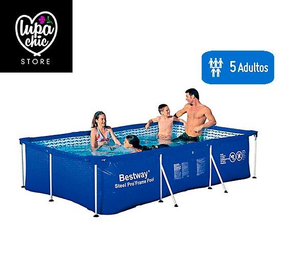 Vendo piscina estructural posot class for Piscina desmontable rectangular 3x2