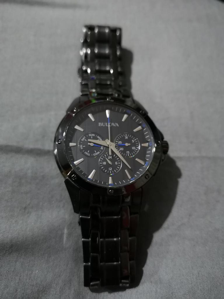 Reloj Bulova Negro Original