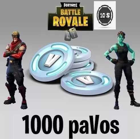 Fornite 1000 Pavos (v-bucks) Pc Ps4 Xbox