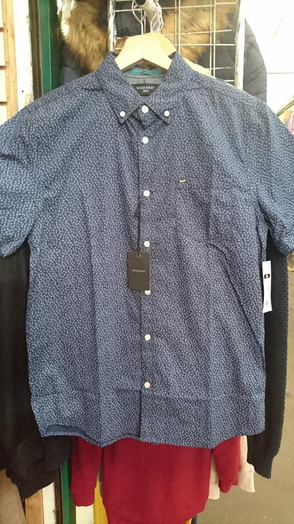 Camisa Basement Nueva Slim Fit Talla M