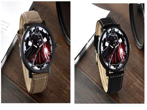 Hermoso Elegante Reloj De Star Wars Cuero Pu