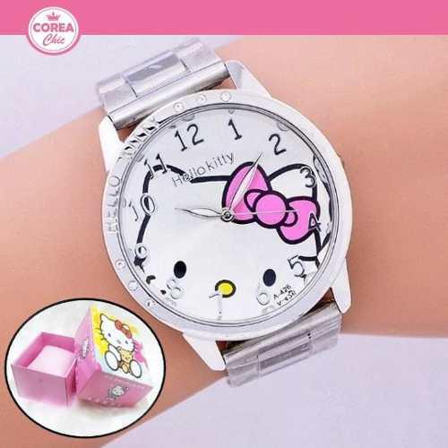 Reloj Hello Kitty/ Moda Coreana (incluye Caja) | Corea Chic