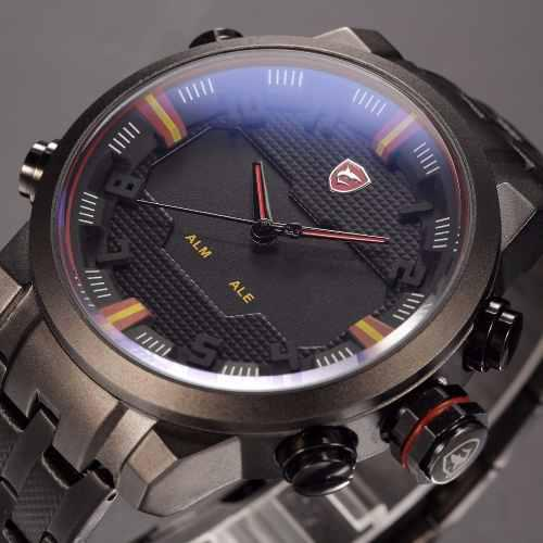 Reloj Shark Deportivo Caja De Acero Inoxidable Impermeable