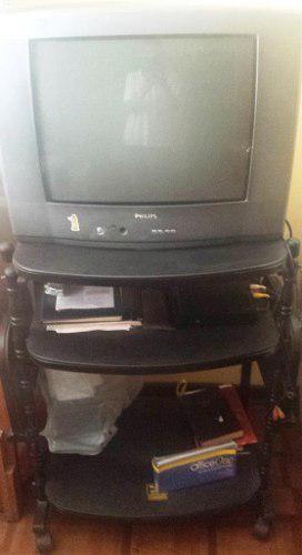 Televisor De 21 Pulgadas Phillips Con Estante Multiuso