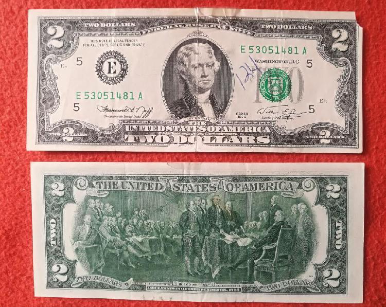 Billete 2 Dolares 1976 Bicentenario
