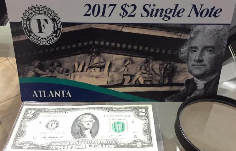 Billete 2 Dolares Bank Of Atlanta