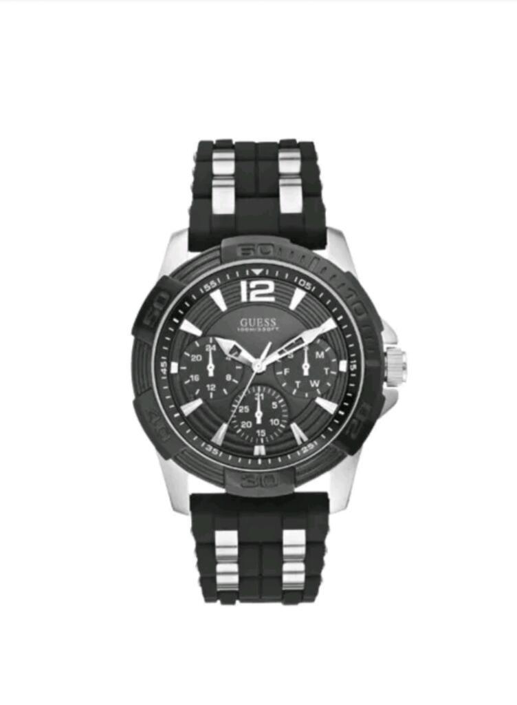 Reloj Guess Wg1 Hombre Negro Silicon
