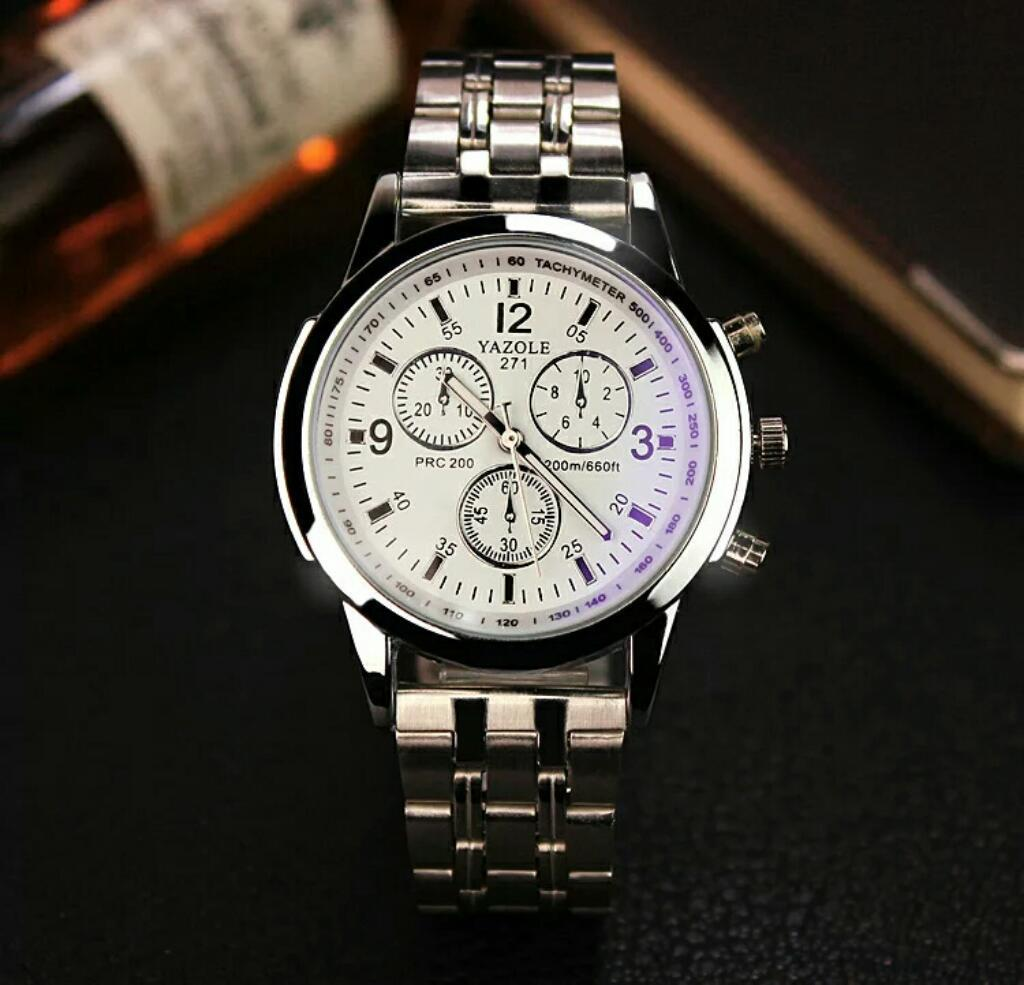 Reloj Metal Blanco