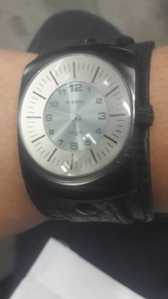 Reloj diesel original dz  correa de cuero 10 bar