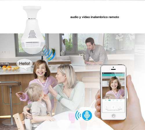 Camara Wifi 360° Foco Espia Vigilancia Ip Seguridad Hd 2019