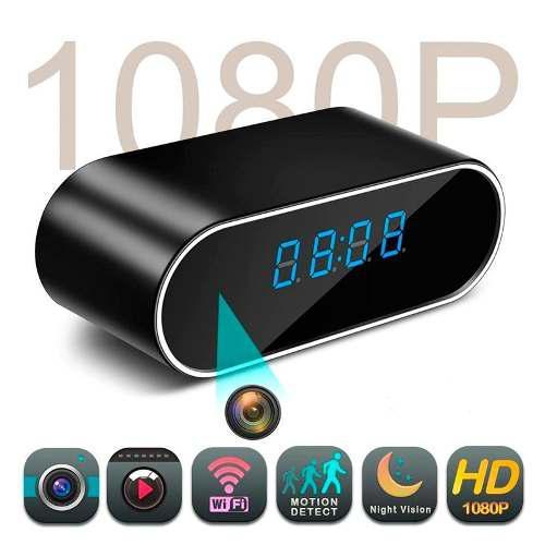 Reloj Camara Espía Despertador Wifi App Tiempo Real Hd