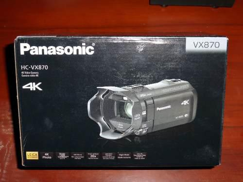 Videocam Panasonic Vx870 Vx870k Ultra Hd 4k Wi-fi Extra 32gb