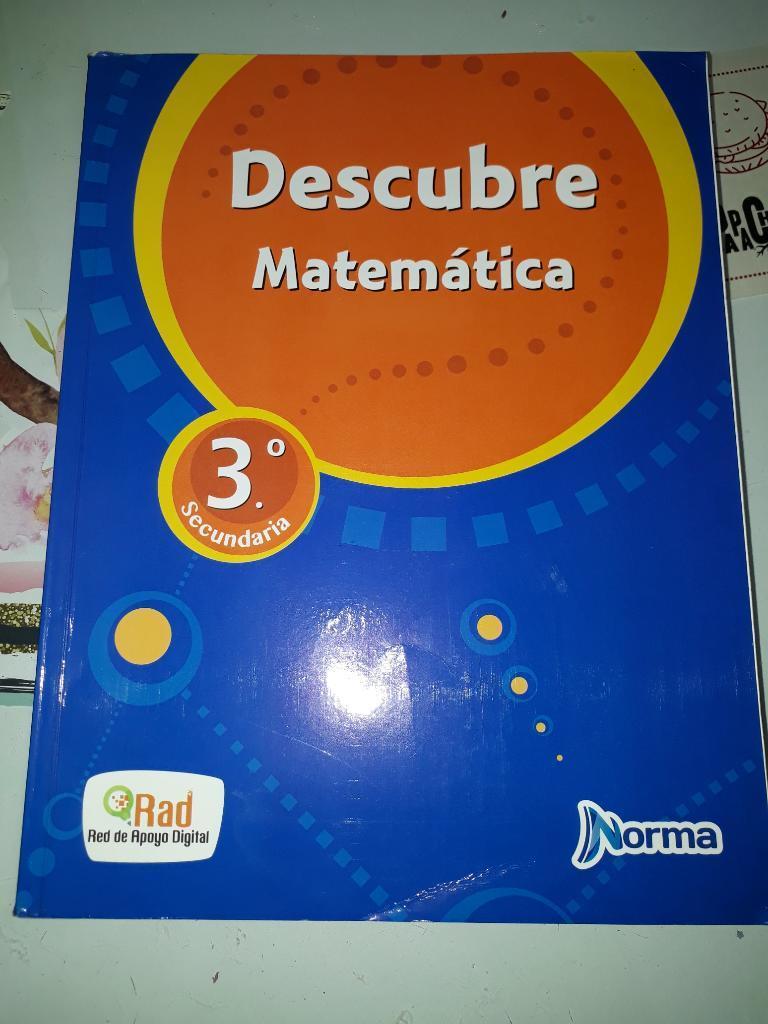 Descubre Matemática 3 Norma