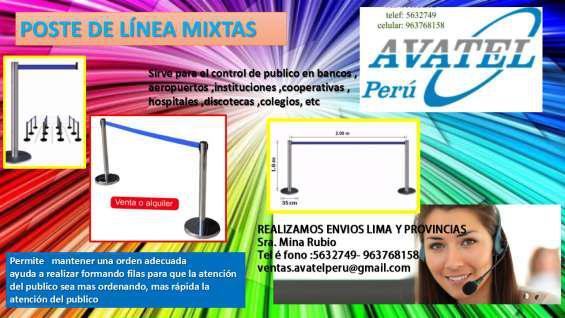 Ordenadores de filas en aluminio en Lima
