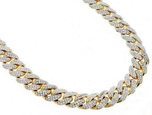 959d5a2c4219 Cadena de oro blanco 18k con diamantes
