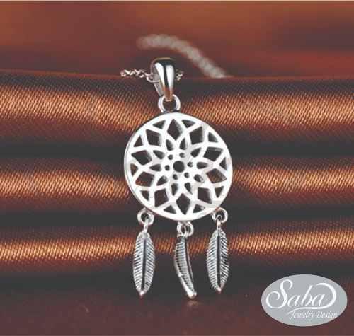 Collar Atrapasueños Plata 950 Mandala Gargantilla