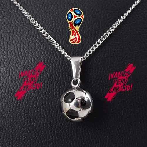 Collar Balón / Pelota Acero Inoxidable Perú Al Mundial!