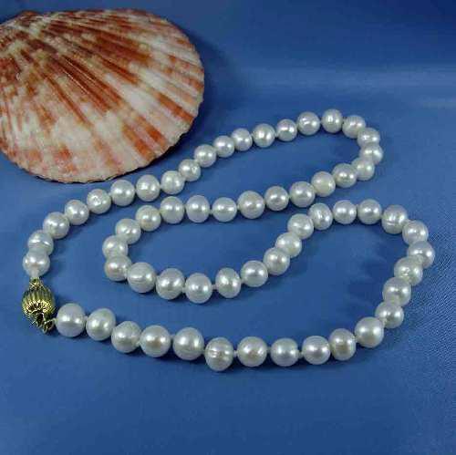 Collar De Perlas Genuinas Cultivadas A A A 7-8mm A26