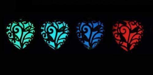 Collar Luminoso En Forma De Corazón