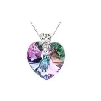 Collar Mujer Corazón Vitrail Ligth Swarosvki En Plata 950