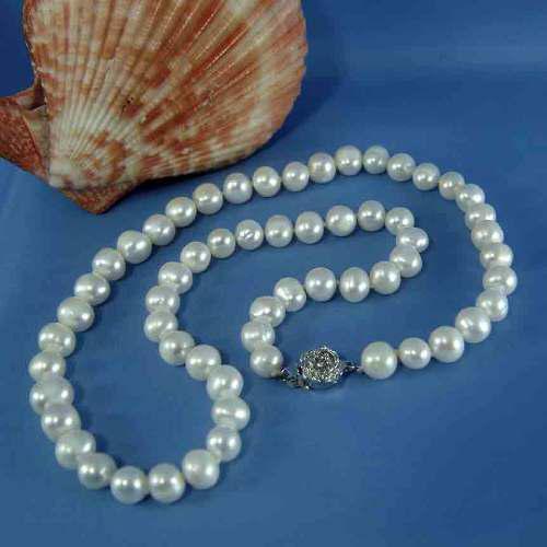 Precioso Collar Perlas Genuinas Cultivadas De 6.5 -7mm Ll3