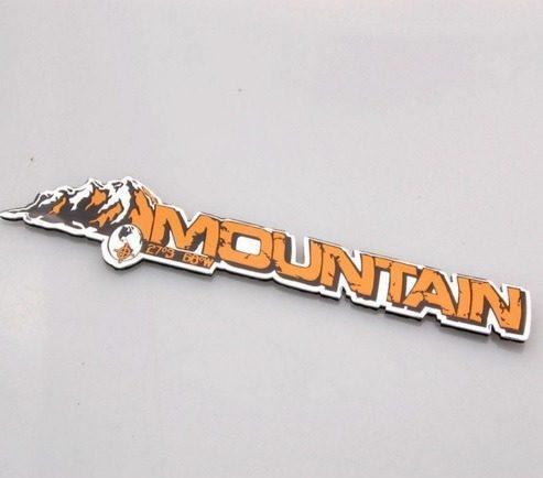 Emblema Cromado Mountain Para Camionetas Jeep