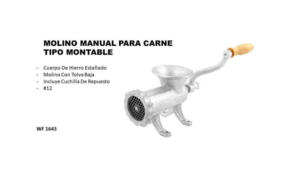 MOLINO MANUAL PARA CARNE TIPO MONTABLE 12