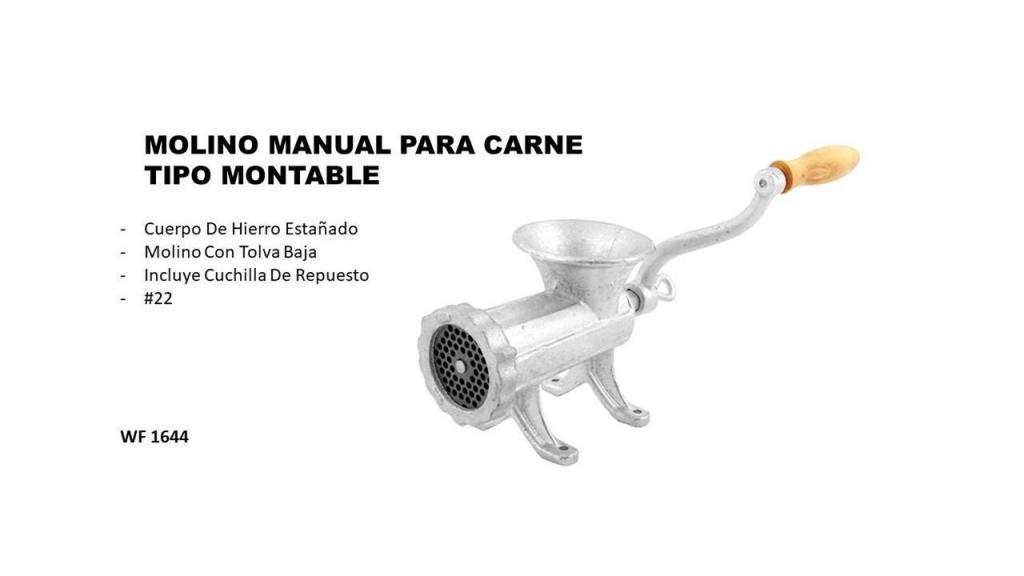 MOLINO MANUAL PARA CARNE TIPO MONTABLE 22